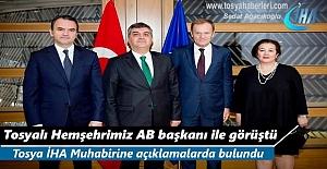 Tosya'lı Hemşehrimiz Faruk Kaymakçı AB Komisyonu Başkanı ile görüştü