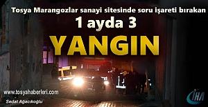 Tosya Marangozlar Sanayi Sitesinde Yangın