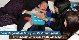 Tosya'da Suriyeli Çocuklara Aşı Yapılıyor