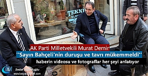 AK Parti Milletvekili Murat Demir'den MHP ilçe başkanına ziyaret