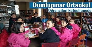 Dumlupınar Ortaokulu öğrencileri kütüphaneye gezi düzenledi