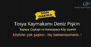 Tosya Kaymakamının Köy Ziyaretinde...