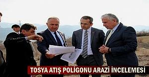 Tosya Trap Atış Poligonu arazisinde Bakanlık yetkilileri inceleme yaptı