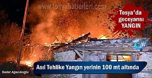 Tosya'da Bağ Evi Geceyarısı Yandı ( GÖRÜNTÜLÜ HABER )