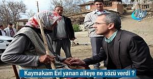 Tosya Kaymakamı Referandum günü Evi yanan aileye Söz verdi