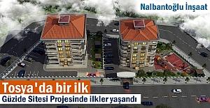 Nalbantoğlu İnşaat Güvencesinde Tosya'da bir ilk; Güzide Sitesi