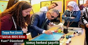 """Tosya Fen Lisesi öğrencileri tarafından düzenlenen """"Tübitak 4006 Bilim Fuarı"""" açıldı"""