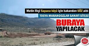 Tosya Marangozlar Sanayi Sitesi Sapaca Köyüne taşınıyor