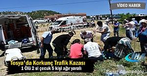 Tosya Avşar Köyünde korkun Trafik Kazası Ölü ve Yaralılar var