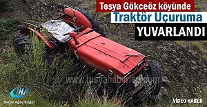 Tosya Gökceöz Köyünde Traktör...