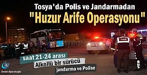Tosya'da ''Huzur Arife Operasyonunda'' Alkollü Sürücü yakalandı