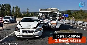 Tosya D-100 karayolunda Trafik Kazası 3 kişi yaralı