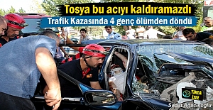 Tosya#039; da Trafik Kazası 4 genç...