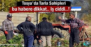 Tosya merkez ve köylerde Tarla sahipleri için önemli haber