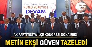 AK Parti 6.Tosya İlçe Kongresinde Metin Ekşi Güven Tazeledi
