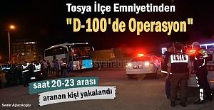 Tosya D-100 karayolunda yapılan asayiş...