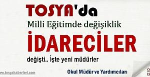 Tosya'da Okul Müdürleri ve İdareciler Görev değişikliği