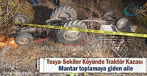Tosya Sekiler köyünde Traktör Kazası...