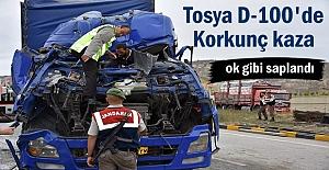 Tosyada TIR kazasında sürücünün...