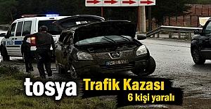 Tosya'da Trafik kazasında 6 kişi yaralandı