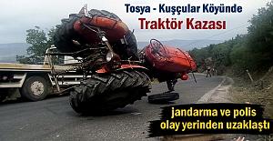 Tosyada Traktör Kazası 1 kişi...