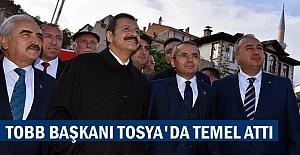 TOBB Başkanı Rifat Hisarcıklıoğlu Tosya'da Hizmet Binasının Temelini attı