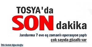 Tosya#039;da Dev Şafak Operasyonu