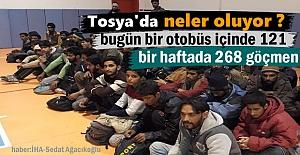 Tosya'da bir Otobüsün içinde 121 göçmen yakalandı