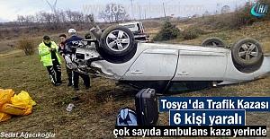 Tosya'da Trafik Kazası 6 kişi yaralandı