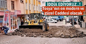 Tosya'nın En Modern caddesi Çalışmasına start verildi