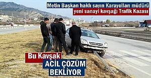 Tosya- Yeni Sanayi Kavşağında Trafik Kazası
