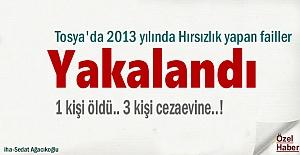 Tosya'da 2013 yılında Hırsızlık yapan 3 kişi yakalandı