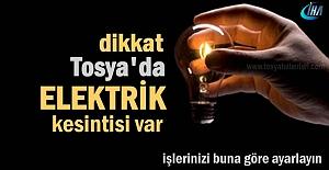 TOSYA#039;DA 6 GÜN ELEKTRİK YOK