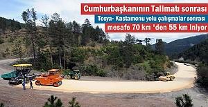 Tosya-Kastamonu yolu mesafesi 55 km#039;ye...