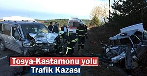 Tosya-Kastamonu Yolunda Trafik Kazası...