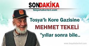 TOSYALI KORE GAZİSİ MEHMET TEKELİ'YE ANLAMLI HEDİYE