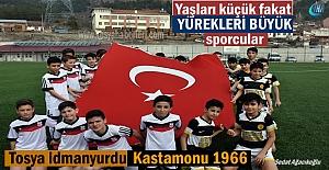 Kastamonu U-13 maçında minik sporculardan Türk Ordusuna müthiş destek