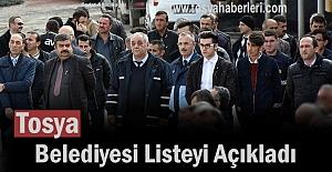 Tosya Belediyesi Taşeron Listesini Açıkladı