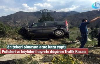 Tosya'da Polisleri ve Köylüleri hayrete düşüren Trafik Kazası