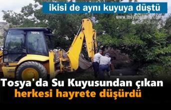 Tosya'da Su Kuyusunda Kurtarma Operasyonu