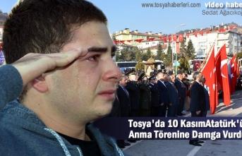 Tosya'da 10 Kasım Atatürk'ü Anma Programında Genç Adam Gözyaşlarını Tutamadı