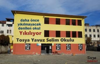Tosya'da Yavuz Selim İlkokulu Yıkılyor
