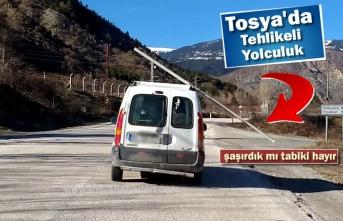 Tosya-Kastamonu Yolunda Tehlikeli Yolculuk