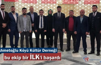 Ahmetoğlu Köyü Derneği Yönetimi TODEF'in en genç Ekibi oldu