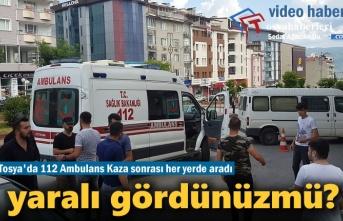 Tosya'da 112 Ambulans Yaralı Aradı