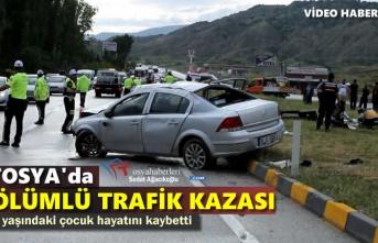 TOSYA'DA TRAFİK KAZASI, 1 ÖLÜ 5 YARALI