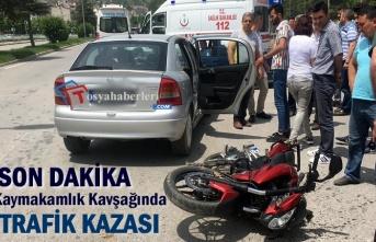 Tosya Kaymakamlık Kavşağı Motosiklet Kazası