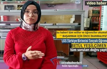 Tosyalı Öğrenci LGS sınavında Türkiye Birincisi Oldu