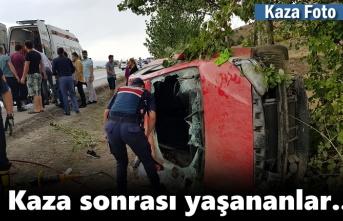 Tosya'da Trafik Kazası Sonrası Yaşananlar
