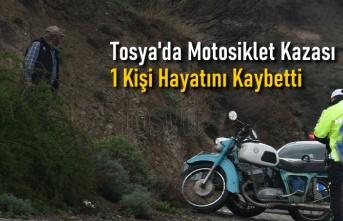 Tosya'da Motosiklet Kazasında bir Kişi Hayatını Kaybetti